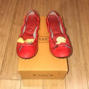 Tod's Ballerina Dee with Ties Flats Size 6